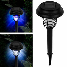 12pc Solar Bug Zapper LED & UV Light Pathway Lighting Insect & Mosquito Control