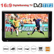 "12"" inch Portable LCD DVB-T/T2 Digital TV Television 1080P TFT-LED w/ Antenna"