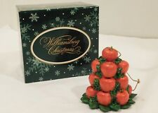 Lang and Wise Colonial Williamsburg - Apple Cone Ornament #85480201 - Rare OOP!