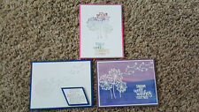 New listing 3 Handmade Stampin' Up Dandelion Wishes, Foil