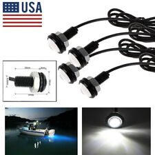 4x White  Eagle Eye LED Daytime Running DRL Backup Light Car Rock Lamp DC 12V