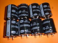 8x Elko 6800µF/35V 105°C 25x30mm Snap-In 6800uF