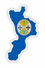 Sticker Silhouette CALABRIA ITALIA mappa bandiera Camion Frigo Elmetto Cassetta Degli Attrezzi Bici