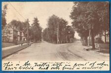 Forks Of Road, Phillpsburg, New Jersey - Early Postcard 1923 Streetcar