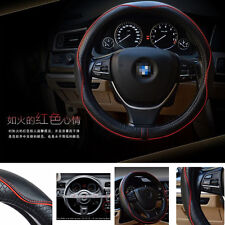 Genuine Leather Car Steering Wheel Cover Universal 15 inch Durable Breathable