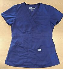 GREY'S ANATOMY by Barco Short Sleeve Purple Scrubs Top Size Small ABC Studios