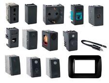 GEWISS SYSTEM BLACK COMPATIBILE PRESA SCHUKO TV PULSANTE DEVIATORE USB