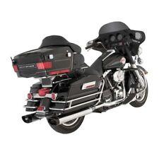 Vance & Hines monster ovals cromato estremità nere Harley Davidson Touring 95-14