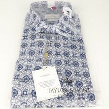 """TAYLOR & HUNT Luxury Cotton Tailored Fit Long Sleeve Shirt Size 17"""" (eur43) BNWT"""