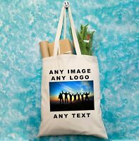 Personalised Tote Bag Printed With Text Photo Logo Birthday Business Hen Party