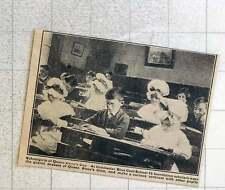 1923 Colchester Bluecoat School Scholars Wearing Queen Anne Dresses