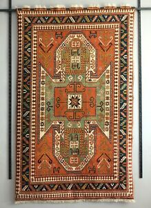 "Vintage Caucasian Sewan Rug Kazak Karabakh nomad tribal carpet 5'1"" x 8'1"""