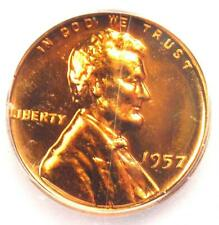 1957 Proof Lincoln Wheat Cent 1C - Certified ICG PR70 (PF70) - Rare Top Grade!