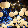 5pcs Chinese Paper Lantern White Balloon Lamp Ball Light Party Supply Decoration