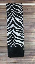 Zebra Stripe Shower Curtain 100% Polyester Black & White Small Spots Pictured