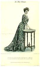 Publicité ancienne  la mode pratique  toilette du soir   No 44  1902