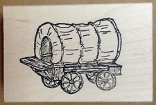 Mounted Rubber Stamps, Western Stamps, Western Covered Wagon, Pioneer Stamps