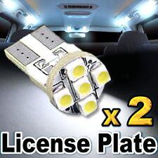 2x White LED License Plate Lights 168 194 2825 T10 5-SMD
