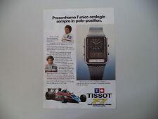 advertising Pubblicità 1980 TISSOT F1 e MARIO ANDRETTI/ELIO DE ANGELIS