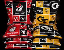 University of Georgia Bulldogs & Georgia Tech Cornhole Bean Bags Aca Regulation
