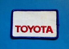 Rare Vintage 1970's Toyota Sew On Employee Uniform Jacket Patch Crest