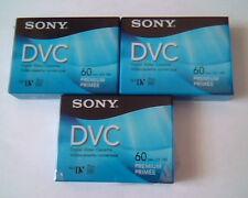 Sony Digital Video Cassette Mini DVC 60 min Premium - BULK 3 BRAND NEW
