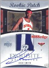 2004-05 EXQUISITE AUTO PATCH RC: JOSH SMITH #51/225 AUTOGRAPH ROOKIE CARD HAWKS