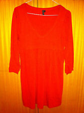 Mini abito arancione TOPSHOP tangerine mini dress UK8 IT40 EU36