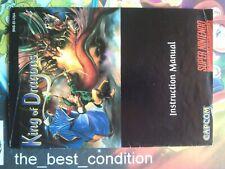 Manual KING OF DRAGONS (Capcom) ●8.5/10● NTSC-U/C 100% Orig SNES SUPER NINTENDO