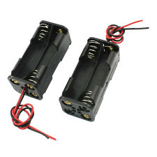 2 pz Nero 2-Layer 4 x 1,5 V AAA Battery Case Holder Box w Conduttori T2N4 L8O8