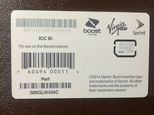 Lot of 100 Sprint, Boost, Virgin Mobile Nano Sim Card Simglw426C 4g Lte