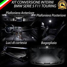 KIT LED INTERNI + ANTIPOZZANGHERA BMW SERIE 5 F11 6000K CANBUS NO AVARIA LUCI