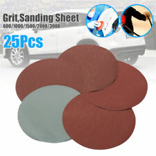 25pcs 600-3000Grit  150mm Sanding Sheet Discs Sandpaper Abrasives Mixed Round