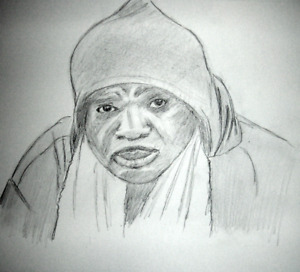 BOXING GREATS #2 PENCIL DRAWINGS SONNY LISTON PORTRAITS 11X14 IN. ORIGINALS ONLY