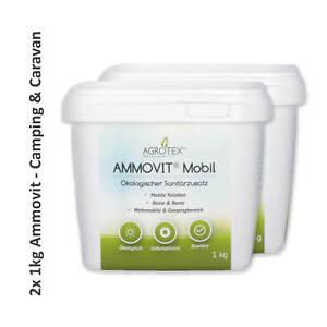 2 kg AMMOVIT Mobil 2x 1 kg, ökol. Sanitärzusatz, WC-Zusatz, Camping & Caravan