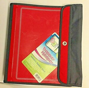 NEW Mead TRAPPER KEEPER Red 1 1/2 in BINDER 3 Ring 2011 Retro Style Dividers