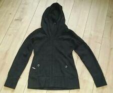 Bench Damen Fleece Jacke schwarz/gemustert Gr. M mit Kapuze