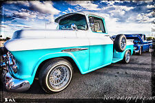 12x18 in Poster, 1958 Hot Rod Chevy Pickup Truck Vintage Garage Art Man Cave