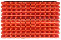 126 teiliges SET Lagersichtboxenwand Stapelboxen mit Montagewand