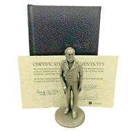 "Lance Fine Pewter President James Knox Polk - 1978 Petitto w/ Book and COA  4.5"""