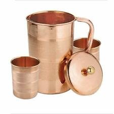 100% Copper 1.5 Lt Luxury Ayurveda Copper Water Pitcher jug With 2 250 ML Glass