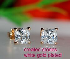 2x 0.5ct princess DIAM0NDS studs