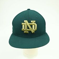 Notre Dame Wool Cap Hat Fitted size 7 1/8 Green & Gold New Era 59 Fifty New NWOT