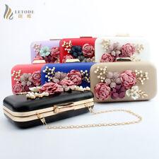 Flower Purse Handbag Evening Women Clutch Chain Shoulder Messenger Party Bag Top