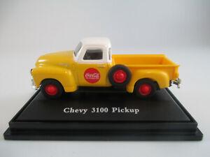 Coca-Cola MotorCity Classics 1:72 1953 Chevy 3100 Yellow Pickup Diecast Model