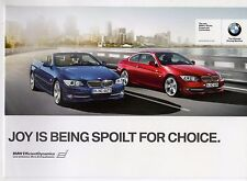 BMW 3-Series Coupe & Convertible 2010 UK Market Foldout Mailer Sales Brochure
