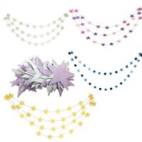 Paper Star Garlands 4M String Chain Birthday Wedding Party Christmas Home Decor