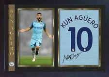 Kun Sergio Aguero signed autograph photo print repro Football Man City Framed #4
