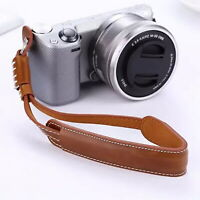 Leather Hand Grip Wrist Strap Rope For Canon Nikon Sony Leica DC Camera