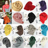 Unisex 18Colors Winter Warm Wool Scarf Knitted Long Scarves Wrap Knit Shawl